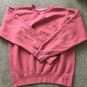 Unique distressed pullover